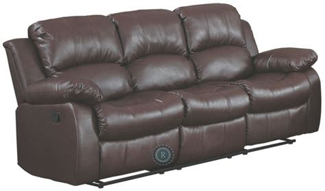 Cranley Brown Double Reclining Sofa From Homelegance