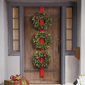 Cordless, Triple, Wreath, Door, Hang
