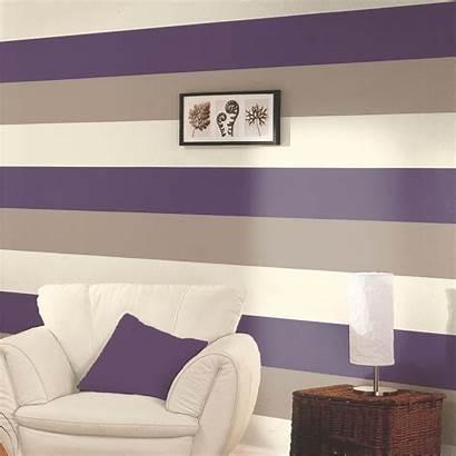 Feature Wall Purple Stripe Grey Striped Cream