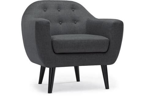 fauteuil gris pas cher fauteuil scandinave fidelio tissu gris fonc 233 fauteuil design pas cher
