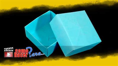 como hacer una caja de papel origami box origami c 243 mo hacer una caja de papel