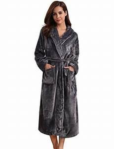 aibrou pyjama femme polaire robe chambre homme longue With robe de chambre personnalisé