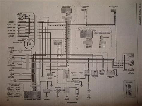 Yamaha Scooter Wiring Diagram Ga by Aprilla Rs50 Lednings Diagram Guider Uploadet Af