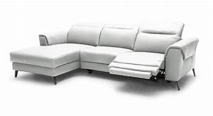 divani casa mosley modern white leather sectional sofa w With sectional sofa w recliners
