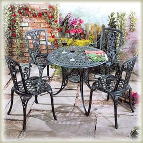 cast iron patio table and chairs garden furniture pattern cast iron patio set