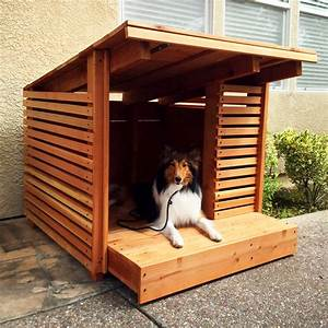 5 luxury dog houses for the modern pup With cool dog kennel designs