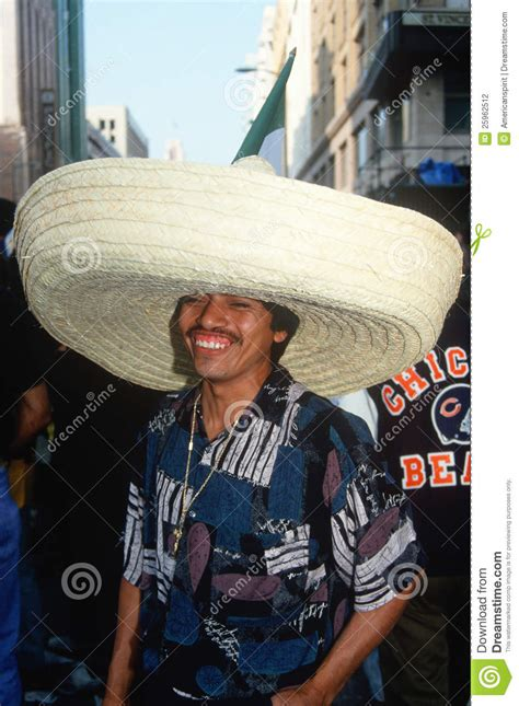 mexican man wearing  sombrero editorial photography