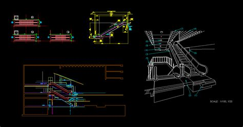 detail escalator dwg detail for autocad designs cad