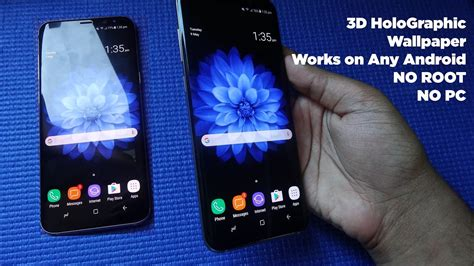 Galaxy S8 Animated Wallpaper - 3d holographic wallpapers for samsung galaxy s8