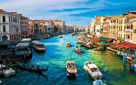 Blue Water Canals In Venice Italy Wallpapers And Images