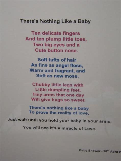baby shower poem baby shower ideas