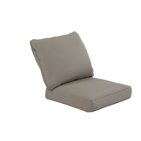 shop allen roth sunbrella taupe seat patio chair