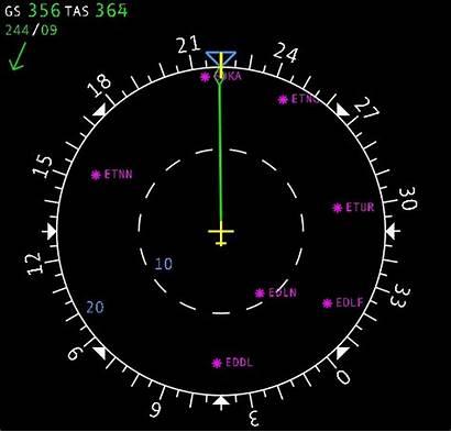 Display Navigation Airbus A320 Flugzeug Flugsimulator Das