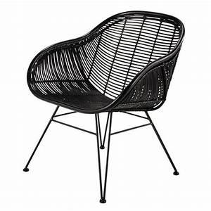 Fauteuil Rotin Maison Du Monde : fauteuil en rotin noir pitaya maisons du monde rotin ~ Teatrodelosmanantiales.com Idées de Décoration