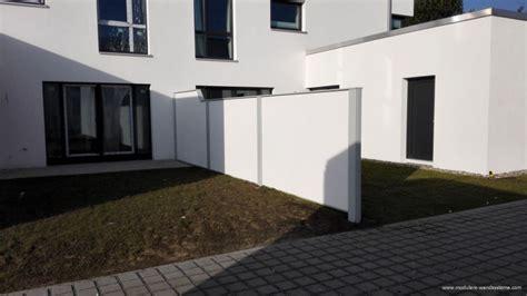 Sichtschutz Garten Doppelhaus by Terrasse Trennwand Reihenhaus