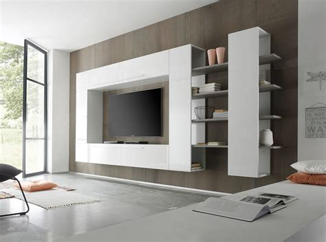 contemporary wall units living room modern