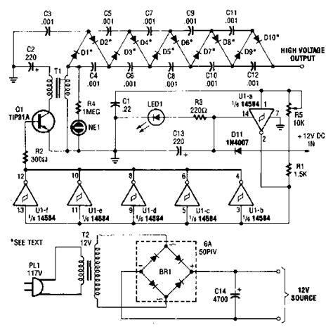 high voltage dc generator circuit diagram electronic circuit diagrams schematics