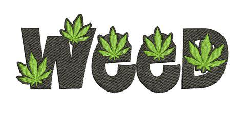 mauvaises herbes script feuille marijuana cannabis design de