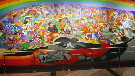 Denver International Airport Murals Painted by Zeb The Duck Goes To Denver International Airport
