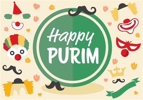 jewish holiday purim vector   vector art