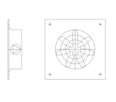 2D CAD Ventilation Fan   CADBlocksfree  CAD blocks free