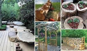 Diy Garten Ideen : 19 coole diy ideen um rundholz und baust mme in eurem garten kreativ zu verwenden ~ Indierocktalk.com Haus und Dekorationen