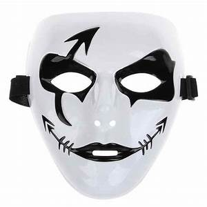 Fashion Halloween Mardi Gras Mask White Hip Hop Street ...