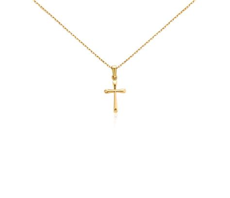 childrens cross pendant   yellow gold blue nile