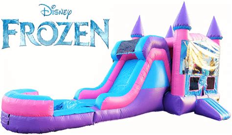 Frozen Bounce House Water Slide Inflatable Rental