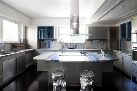embellish  kitchen worktop blue marble interior