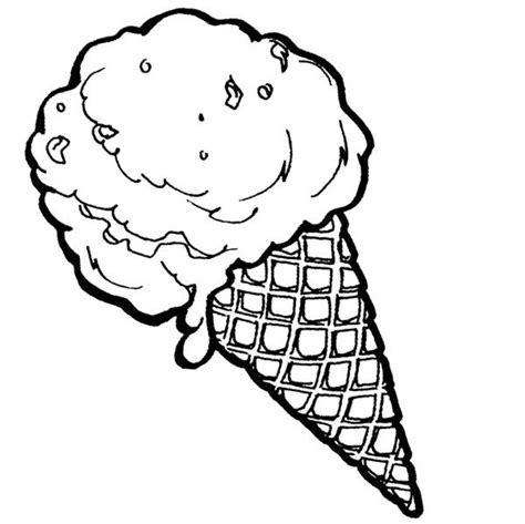 ice cream cone coloring page cookie food coloring