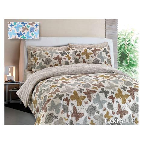 completo lenzuola puro cotone farfalle cose  casa  mondo  accessori  la casa