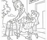 Kindness Coloring sketch template