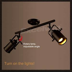 Ceiling spot light kits : Light adjustable rail track lighting spot kit wall