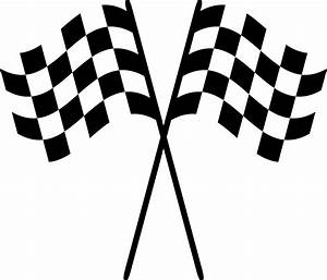 Clipart - Checkered Racing Flags