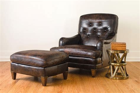 brown leather chair and ottoman leather club chair ottoman homestead seattle