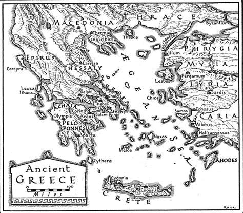 ancient map  greece greekacom
