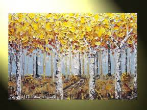 Birch Tree Paintings Abstract