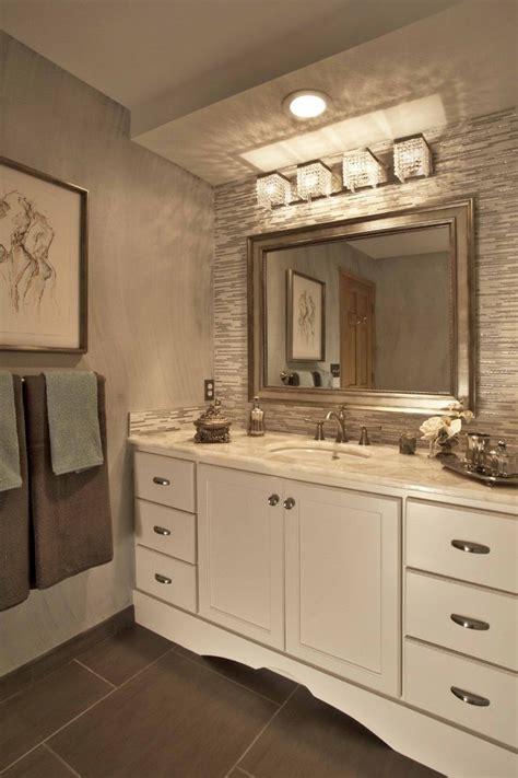 Houzz Bathroom Vanity Lighting by Houzz Bathroom Lighting Transitional With Niche Mirror