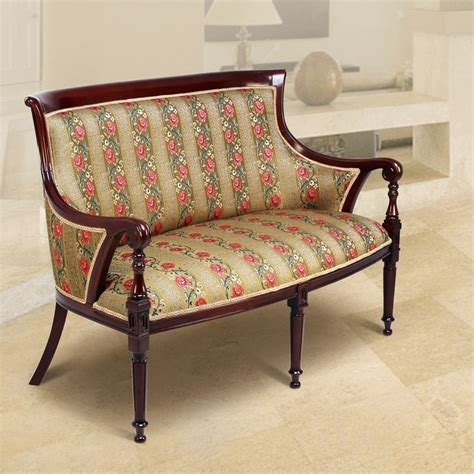 2 seater sofa with mahogany wood finish by stories