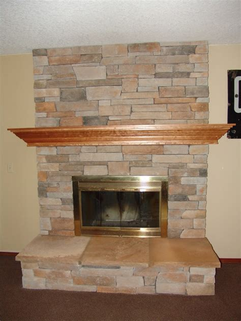 Indoor Fireplace Remodel (C) - Traditional - Living Room