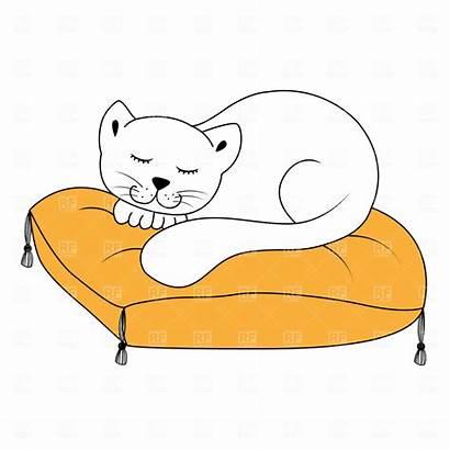 Sleeping Cat Clipart Pillow Cats Clip Sleep