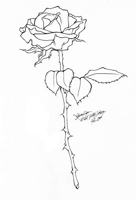 Rose Tattoo - Line Art by BloodyLuna on DeviantArt