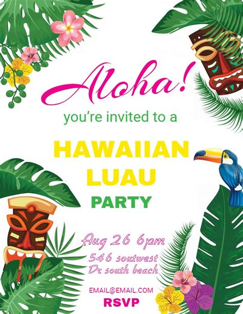 hawaiian designer christmas ornaments hawaiian invitations luau flyer template design