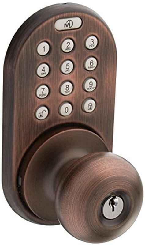 keypad door knob milocks xkk 02ob digital door knob lock with keyless entry