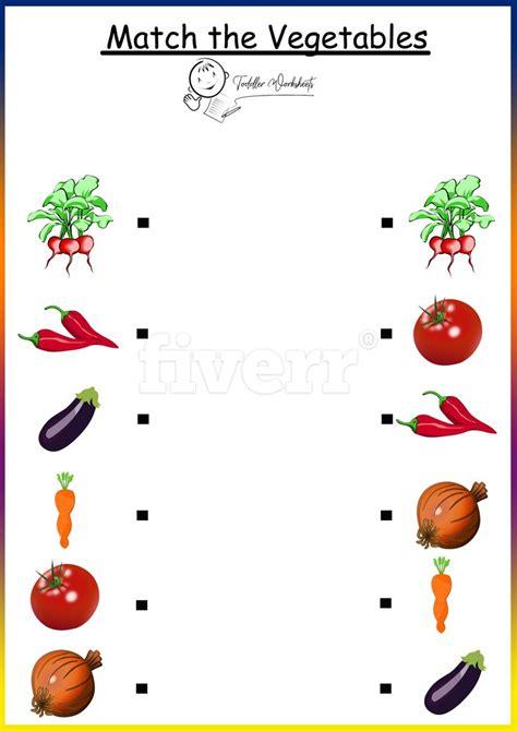 preschool  worksheets vegetables kindergarten