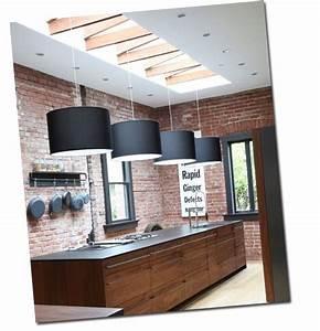 Deco Mur De Cuisine : cuisine avec un mur de briques ~ Zukunftsfamilie.com Idées de Décoration