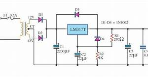 Lm317 6v Dc Power Supply Circuit