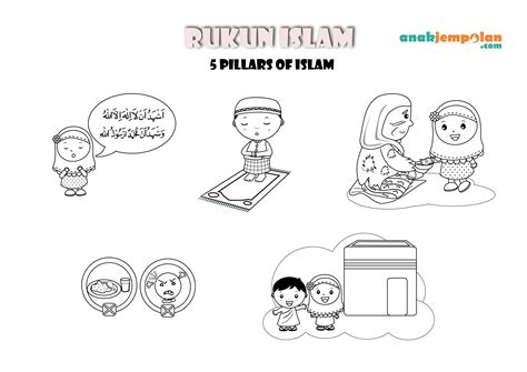 freebies rukun islam  pillars  islam islam  craft