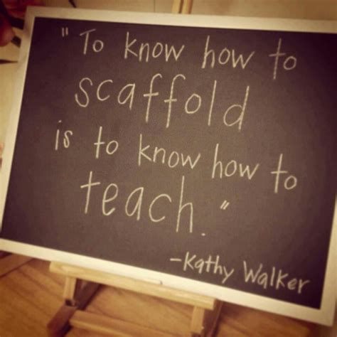 scaffolding teaching quotes  childhood flipped